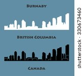 burnaby  british columbia ... | Shutterstock .eps vector #330673460