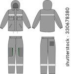 winter warm clothes male set... | Shutterstock . vector #330678380