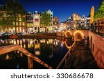 Canal In Amsterdam At Night....