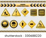 under construction signs | Shutterstock .eps vector #330688220