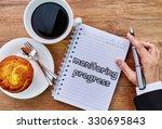 monitoring progress in modern... | Shutterstock . vector #330695843