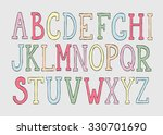 doodle colorful alphabet ...   Shutterstock .eps vector #330701690