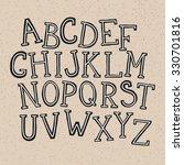 doodle alphabet  vector simple... | Shutterstock .eps vector #330701816