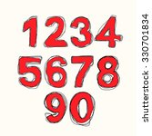 vector modern numbers drawn... | Shutterstock .eps vector #330701834