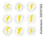 vintage lightning bolt signs.... | Shutterstock .eps vector #330707363
