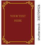 border frame deco plaque.... | Shutterstock .eps vector #330709526