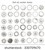 set of graphic trees  top view  ... | Shutterstock .eps vector #330709670