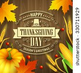 hand drawn thanksgiving... | Shutterstock . vector #330711929