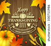 hand drawn thanksgiving... | Shutterstock . vector #330711986