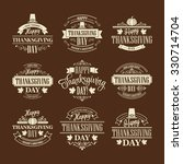 typographic thanksgiving design ... | Shutterstock . vector #330714704
