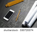 presenting the blueprint of a... | Shutterstock . vector #330720374