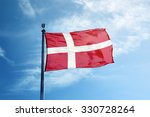 Flag of denmark on the mast
