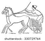 chariot  vintage engraved...   Shutterstock .eps vector #330729764