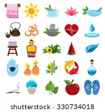 spa icons  wellness  health... | Shutterstock .eps vector #330734018