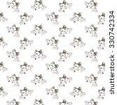 cute cartoon cats pattern. | Shutterstock .eps vector #330742334