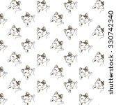 cute cartoon cats pattern. | Shutterstock .eps vector #330742340