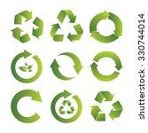 ecological symbols | Shutterstock .eps vector #330744014
