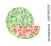watermelon made by ecological...   Shutterstock .eps vector #330745223