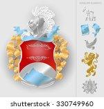 heraldic royal crests coat of...   Shutterstock . vector #330749960