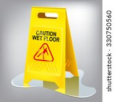 caution wet floor sign. easy... | Shutterstock .eps vector #330750560