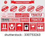 packaging or fragile stickers ... | Shutterstock .eps vector #330753263