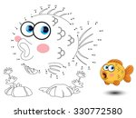 fish connect the dots and color | Shutterstock .eps vector #330772580