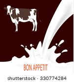 Logo Vector   Cow And Milk...