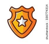 gold shield vector icon  award... | Shutterstock .eps vector #330774314