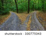 landscape with fork rural roads ... | Shutterstock . vector #330775343
