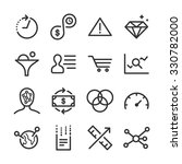analytics icons set | Shutterstock .eps vector #330782000