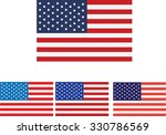 american flag and design usa  | Shutterstock .eps vector #330786569