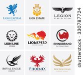 animal logo collection lion... | Shutterstock .eps vector #330787724