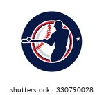 circle softball baseball sport...   Shutterstock .eps vector #330790028