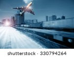 container trains  commercial...   Shutterstock . vector #330794264
