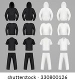 silhouettes clothes black and... | Shutterstock .eps vector #330800126
