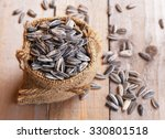 Pile Of Sunflower Seeds In Th...