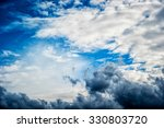 Dramatic Storm Cloudscape With...