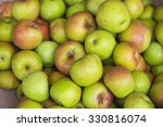 Green Apple Background. Asian...