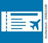 airticket vector icon. style is ... | Shutterstock .eps vector #330822188