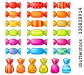 set of assorted festive wrapped ... | Shutterstock .eps vector #330828914