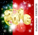 a portuguese flag with 2016... | Shutterstock .eps vector #330830738