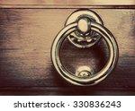 Antique Golden Door Knocker On...