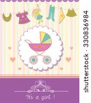 baby girl shower invitation... | Shutterstock .eps vector #330836984