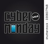 cyber monday sale banner for... | Shutterstock .eps vector #330837968