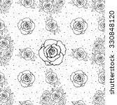 roses seamless pattern. bridal... | Shutterstock .eps vector #330848120