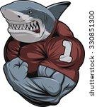 angry white shark   Shutterstock .eps vector #330851300