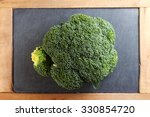 the fresh broccoli put on the...   Shutterstock . vector #330854720