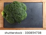 the fresh broccoli put on the...   Shutterstock . vector #330854738