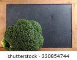 the fresh broccoli put on the...   Shutterstock . vector #330854744