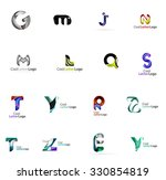 set of colorful abstract letter ... | Shutterstock . vector #330854819